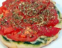 Pizza z pomidorami-mini