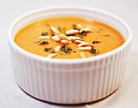 Zupa dyniowo-pomidorowa z mleczkiem kokosowym-mini