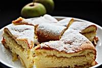 Ciasto biszkoptowe z jabłkami-mini